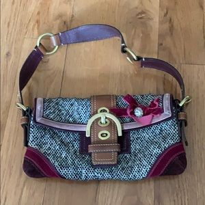 Tweed coach purse